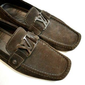 $949 Louis Vuitton Luxury Mens Brown Suede shoes